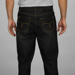 Jack of Spades Men's Black Straight Fit Jeans