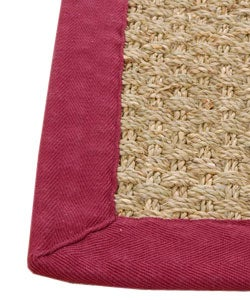 Basketweave Seagrass Area Rug (3'6 x 5'6)