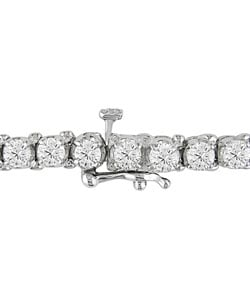 Miadora 14k White Gold 6-ct Diamond Tennis Bracelet (G-H, I1-I2)