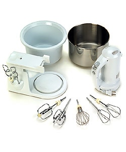 Euro Pro EP565WP 300-watt Hand/Stand Mixer with Two Bowls