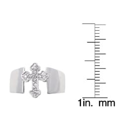 Tressa Sterling Silver CZ Cross Ring