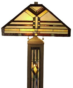 tiffany style mission style arizona light up base floor lamp. Black Bedroom Furniture Sets. Home Design Ideas