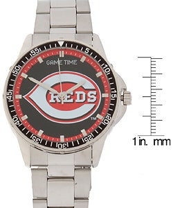 Cincinnati Reds Coach Series Stainless Steel Watch