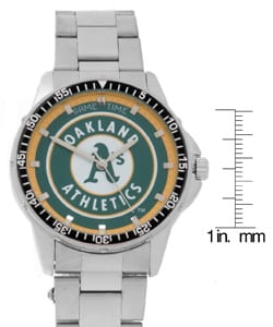 Oakland Athletics Men's Coach Series Steel Watch
