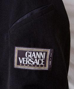Versace Men's Size 48 Black Wool Car Coat