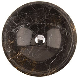 Fontaine Black Marble Bathroom Vessel Sink