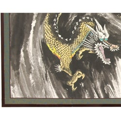Silk Dragons in the Clouds Shoji Screen (China)