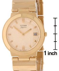 Citizen Elegance Men's Goltone Bracelet Watch