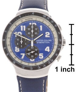 United colors of benetton men 39 s blue dial watch 10220538 shopping big for Benetton watches