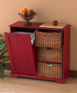 Trash Bin Storage with Cutting Board