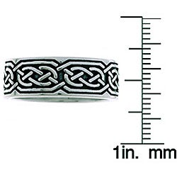 CGC Sterling Silver Celtic Round Knot Ring