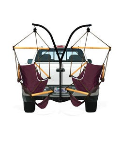 Trailer Hitch Cradle Chairs and Stand Set