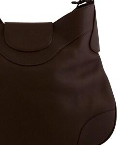 prada dark brown leather handbag