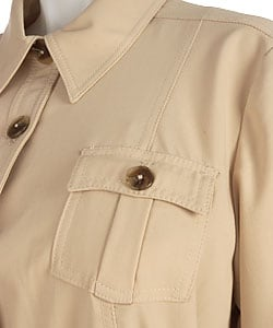 Plus Size Belted Safari Jacket