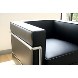 LC Black Leather Chair