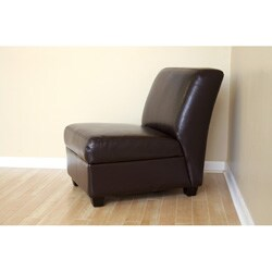 Bernay Espresso Brown Faux Leather Club Chairs (Set of 2)