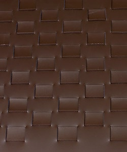 Woven Leather Bench Dark Brown