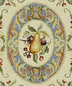 Safavieh Hand-hooked Fruit Harvest Blue Wool Rug (7'9 x 9'9)
