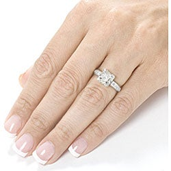 14k White Gold 1-1/6ct TDW Princess Diamond Halo Enagement Ring