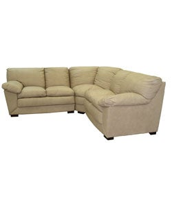 Taupe Leather 5 Seat Sectional Sofa Overstock Shopping