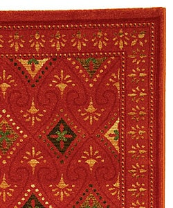 Fine-spun Regal Orange/ Multi Area Rug (6'7 x 9'6)