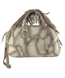 Prada Deer Skin Bowler Bag with Shoulder Strap - 10725152 ...