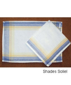 Hand-woven Placemats and Napkin Set (India)