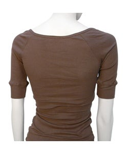 Poetry Women's Ribbed 3/4 Sleeve Top