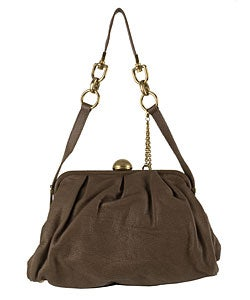 Dolce & Gabbana Light Brown Leather Frame Handbag