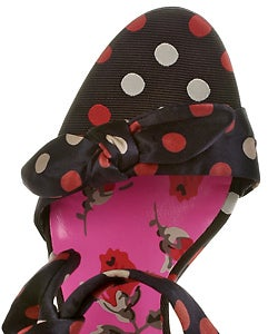 Betsey Johnson Lanica Polka Dot Sandals