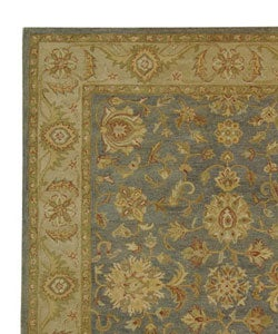 Handmade Antiquities Jewel Grey Blue/ Beige Wool Rug (9'6 x 13'6)