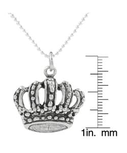 Tressa Sterling Silver Crown Pendant Necklace