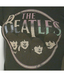 Vintage Beatles Faces Fitted T-shirt