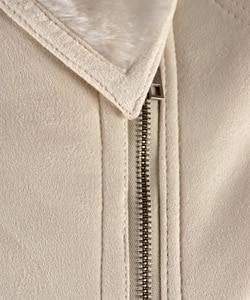 Lux by Marcelle Renee Ultrasuede Shearling Jacket