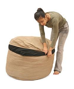Beige Bean Bag Sleeper