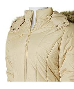 Bongo Knee-length Hooded Puffy Coat
