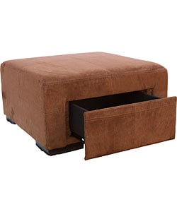 3 in 1 chocolate brown microfiber storage ottoman