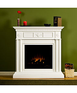 huntington white electric fireplace 11076501