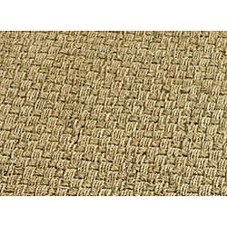 Hand-woven Sisal Natural/ Brown Seagrass Rug (3' x 5')