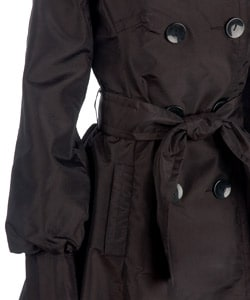 Coffee Shop Trench-style Puff Hem Coat