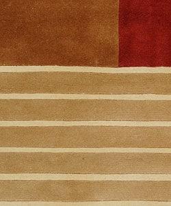 Safavieh Handmade Rodeo Drive Trio Multicolor N.Z. Wool Rug (6' x 9')