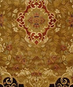 Safavieh Handmade Classic Juliette Gold Wool Rug (7'6 x 9'6)