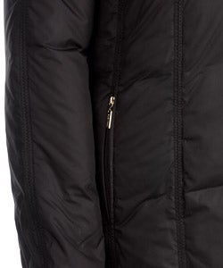 Ellen Tracy Fur Trimmed Black Down Coat