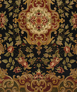 Safavieh Handmade Classic Juliette Black/ Green Wool Rug (9'6 x 13'6)