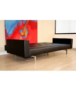 Aragorn Black Convertible Sofa/ Bed