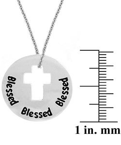 Mondevio Sterling Silver Blessed Cross Necklace