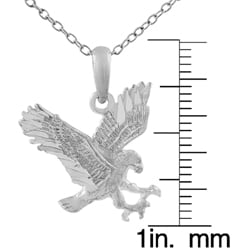 Tressa Sterling Silver American Eagle Necklace