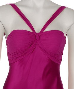 Adrianna Papell Women's Magenta Silk Dress