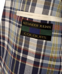 Alexander Julian Colours Men's Plaid Blazer