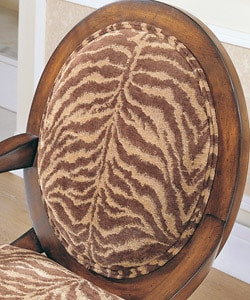 Tiger Oval Back Arm Chair